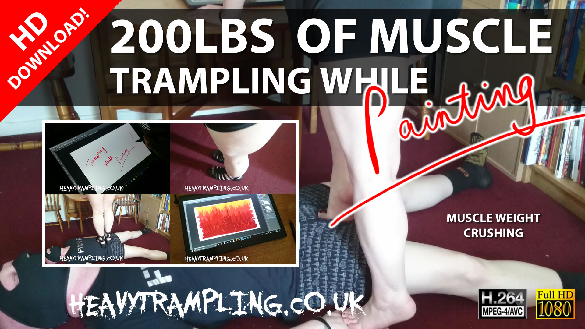 Trampling: 200lbs of Muscle Trampling while Painting!